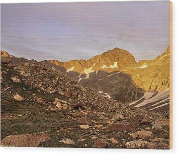 Gladstone Peak Wood Print by Aaron Spong