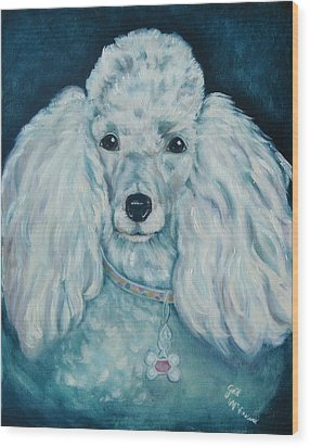 Glamorous Poodle Wood Print by Gail McFarland