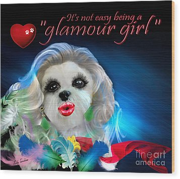 Glamour Girl-3 Wood Print