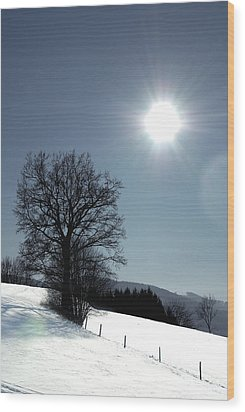Glance Wood Print by Antonio Castillo