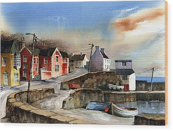 Glandore Village West Cork Wood Print