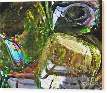Glass Abstract 119 Wood Print by Sarah Loft