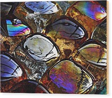 Glass Abstract 13 Wood Print by Sarah Loft
