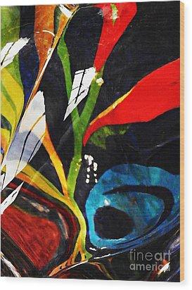 Glass Abstract 297 Wood Print by Sarah Loft