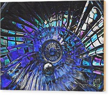 Glass Abstract 403 Wood Print by Sarah Loft