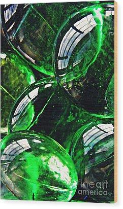 Glass Abstract 48 Wood Print by Sarah Loft