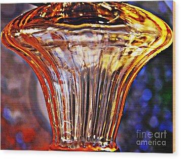 Glass Abstract 562 Wood Print by Sarah Loft
