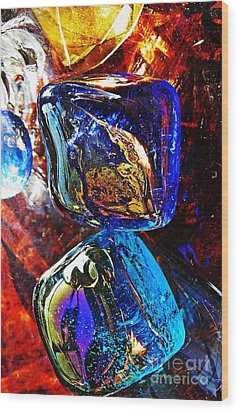 Glass Abstract 685 Wood Print by Sarah Loft