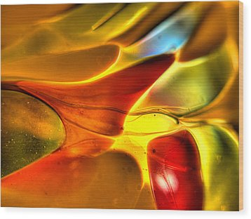 Glass And Light Wood Print by Charles Hite