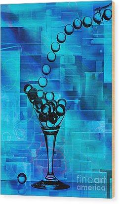 Glass Balls Wood Print by Mauro Celotti