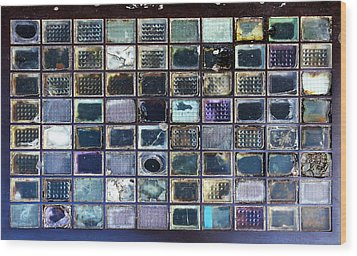 Glass Blocks In Sidewalk Wood Print by Artistic Photos