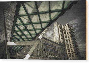 Glass Bridge Wood Print by Wayne Sherriff