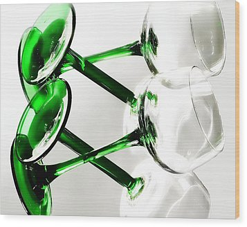 Glass Glow Wood Print by Camille Lopez