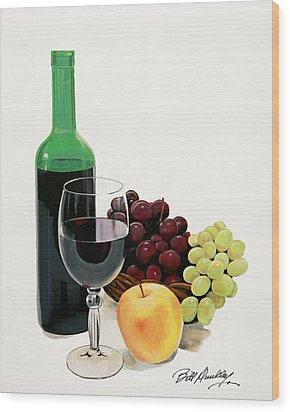 Glass Half Full Wood Print by Bill Dunkley
