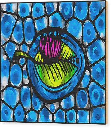 Glass Lilly Wood Print by Josephine Ring