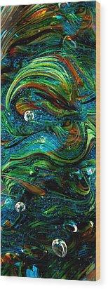 Glass Macro Abstract 13e7 Wood Print by David Patterson