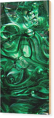 Glass Macro Abstract Egw Wood Print by David Patterson