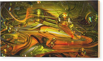 Glass Macro Abstract Rgo1 Wood Print by David Patterson