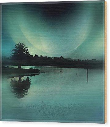 Glass Moon Wood Print