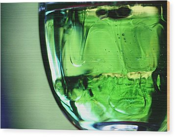 Glass Of Green Wood Print