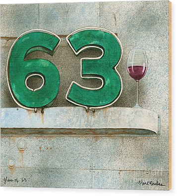 Glass Of Sixty Three... Wood Print by Will Bullas