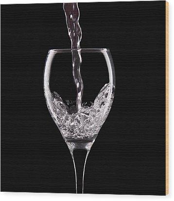 Glass Of Water Wood Print by Tom Mc Nemar