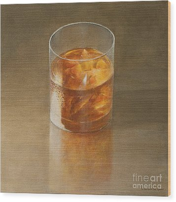 Glass Of Whisky 2010 Wood Print by Lincoln Seligman