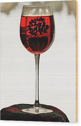 Wood Print featuring the photograph Glass Of Wine... by Al Fritz