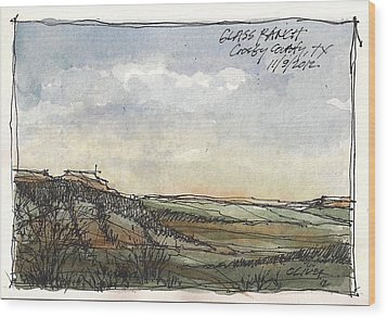 Wood Print featuring the mixed media Glass Ranch by Tim Oliver