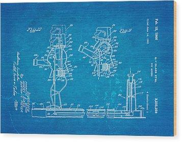 Glass Rock Em Sock Em Robots Toy Patent Art 3 1966 Blueprint Wood Print by Ian Monk