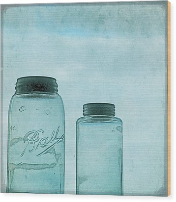 Wood Print featuring the photograph Glass Sky by Sally Banfill