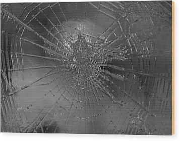 Glass Spider Wood Print by Carol Lynch