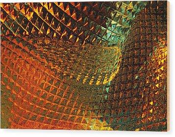Invigorate - Glass Works 16 Wood Print