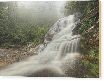 Glen Falls Wood Print by Doug McPherson