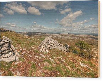 Glen Hill View Wood Print by John Quinn