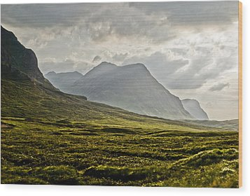 Wood Print featuring the photograph Glencoe Scotland by Sally Ross