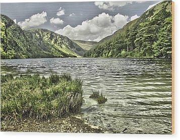 Glendalough Upper Lake Wood Print by Martina Fagan
