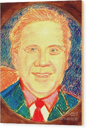 Glenn Beck Controversy Wood Print by Richard W Linford