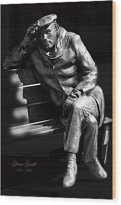 Glenn Gould Wood Print by Andrew Fare