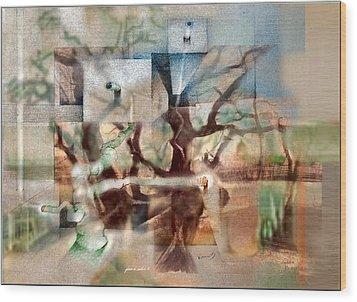 Glennvangoghscape 2014  Wood Print