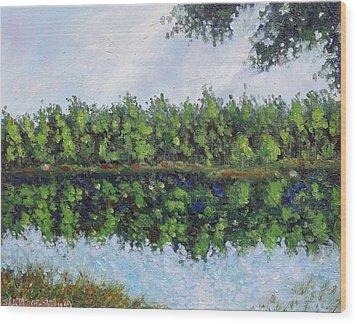 Wood Print featuring the painting Glenoak Lake by Jason Williamson