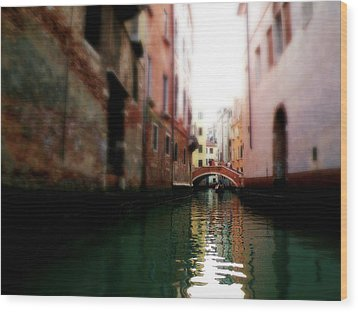 Wood Print featuring the photograph Gliding Along The Canal  by Micki Findlay