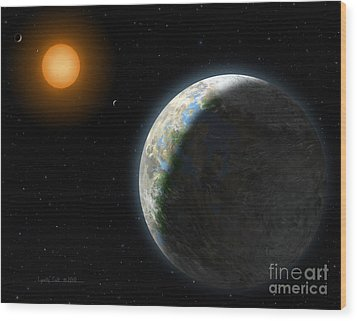 Gliese 581 G Wood Print
