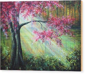 Glimmer Wood Print by Ann Marie Bone