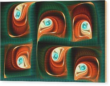 Glimpses Wood Print by Anastasiya Malakhova
