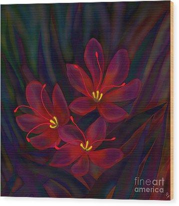 Glitter Wood Print
