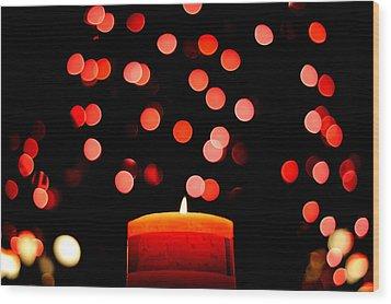 Glittering Lights Wood Print