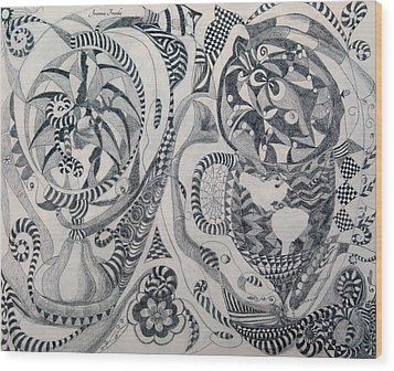 Globes And Gardens Wood Print by Joanna Franke