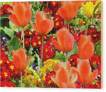 Glorious Garden Wood Print by Bruce Nutting
