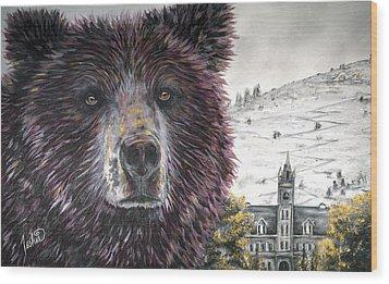 Glorious Griz Wood Print